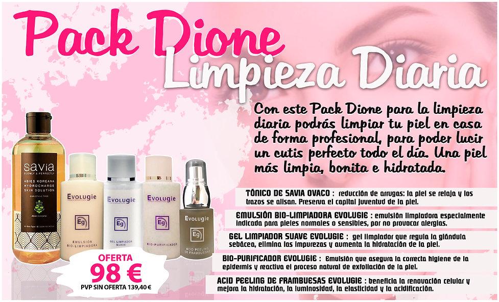 Pack Dione limpieza facial crema piel acne joven