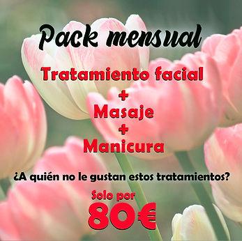 plan mensual estetica tratamientos faciales masaje manicura dione