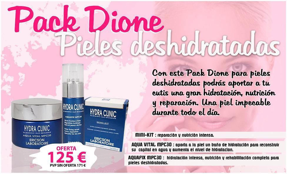 Pack Dione pieles deshidratadas hidratar crema