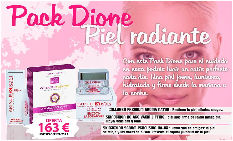 Pack Dione piel radiante luminosa joven crema estética