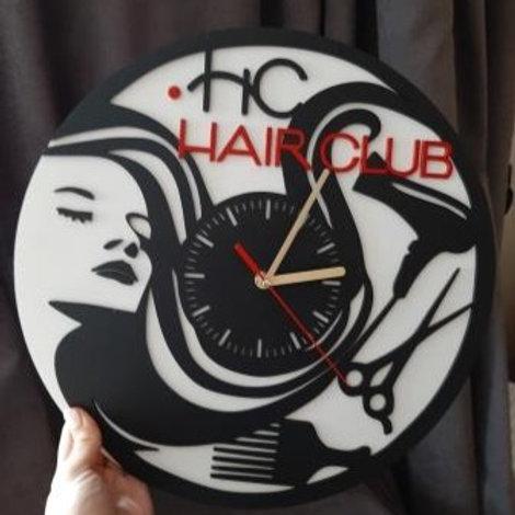 Часы для парикмахерской с логотипом