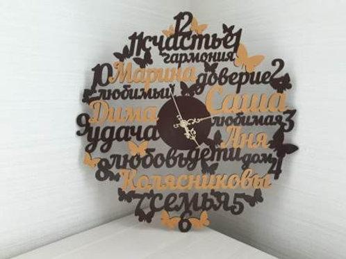 Именные часы с  пожеланиями