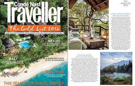 Sonora Resort Canada in Conde Nast Traveller