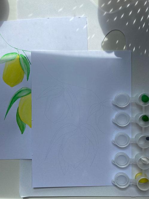 Sicilian Lemon Painting Kit