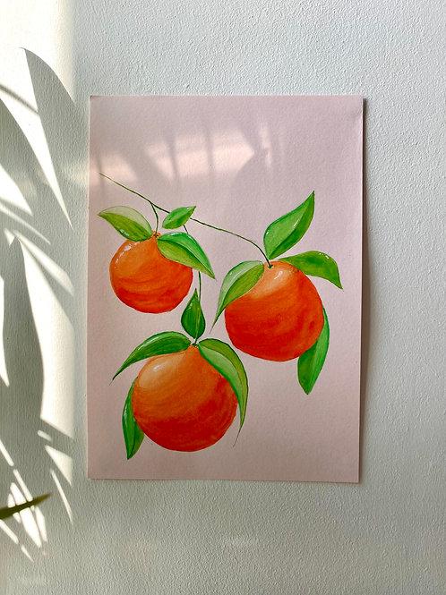 Summer Oranges Painting Kit