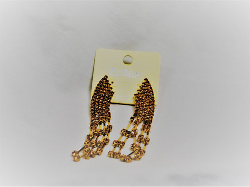 Rhinestone Goldtone Earrings
