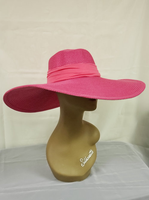 Hot Pink Straw Hat