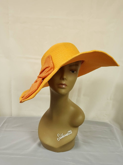 Orange Straw Hat w/Bow