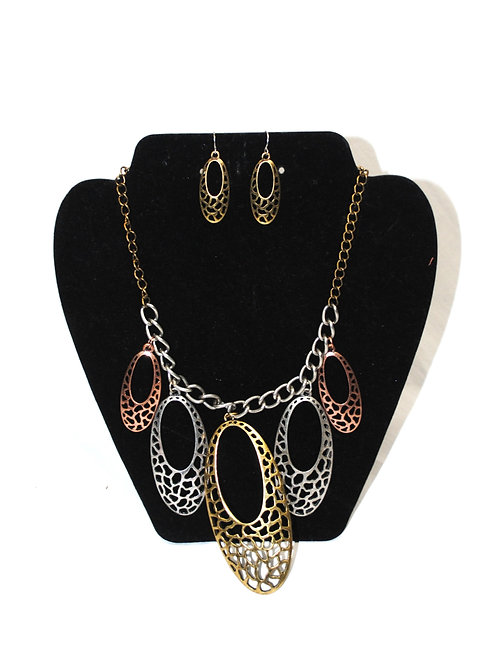 Multi Color Oval Chain Set