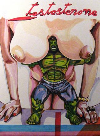 Testosterone, dessin sur papier Canson, feutres et marqueurs, 65/50 cm, 2011