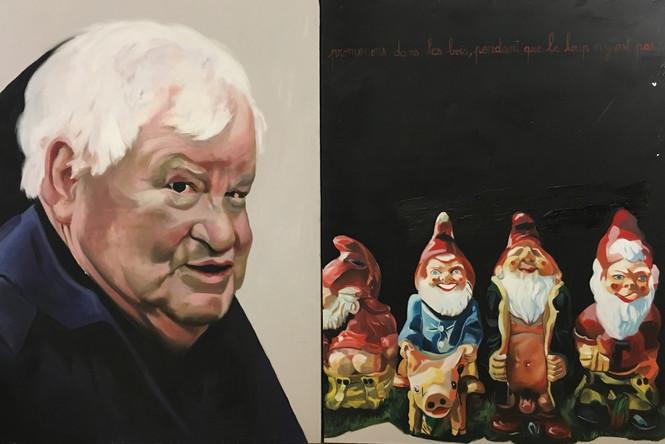 Emile Louis, diptyque,  2003, huile sur toile, 132/197 cm