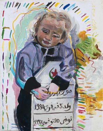 Scout, 2013, huile sur papier marouflé sur papier, 30/20 cm