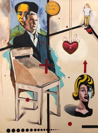 Collectionneur 2, Larry Gagosian, 2007, Huile sur toile, 132/97cm