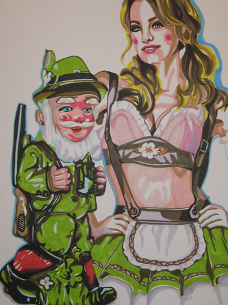 Le chasseur, dessin sur papier Canson, feutres et marqueurs, 65/50cm, 2011