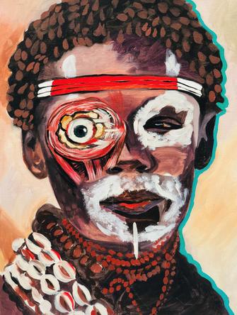 Masque, 2005, huile sur toile, 41/32 cm