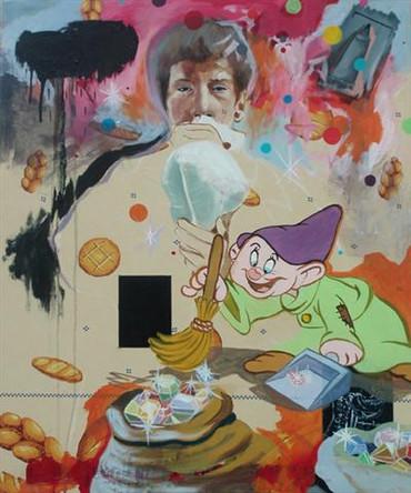 Simplet, 2007, Huile sur toile, 90/65 cm