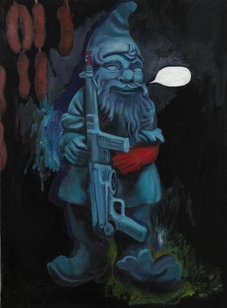 Hommage Klein, 2007, huile sur toile, 80/65 cm