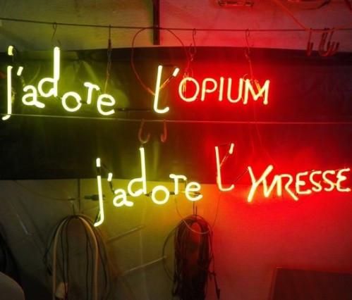 J'Adore l'Opium, J'Adore l'Yvresse, 2012, 40/70 cm chacun, édition de 5 et 3 épreuves d'artiste