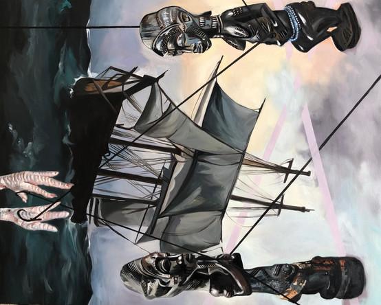 Voyage 3, 2021, huile sur toile, 100/80cm