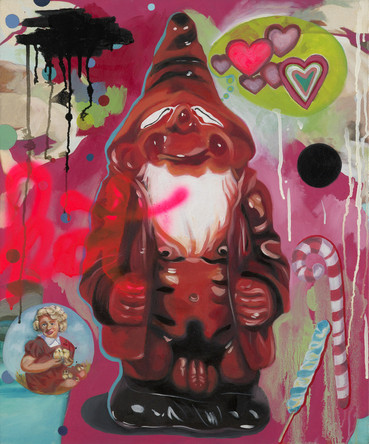 Nains 5, 2007, huile sur toile, 80/65cm
