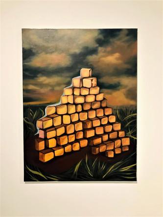 Alep, 2014, huile sur toile, 132/97 cm