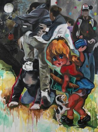 Poulbot 1, 2007, huile sur toile, 132/97 cm