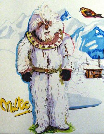 Yeti, dessin sur papier Canson, feutres et marqueurs, 65/50 cm, 2011