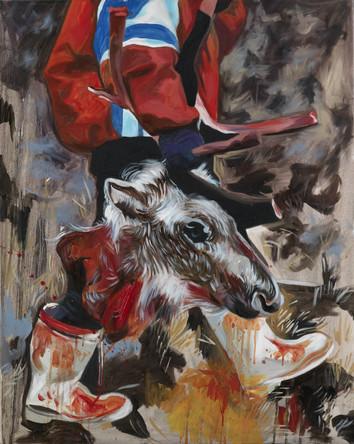 Trophée, 2005, huile sur toile, 80/73 cm,