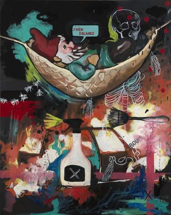 J'm'en balance, 2007, Huile sur toile, 80/65 cm