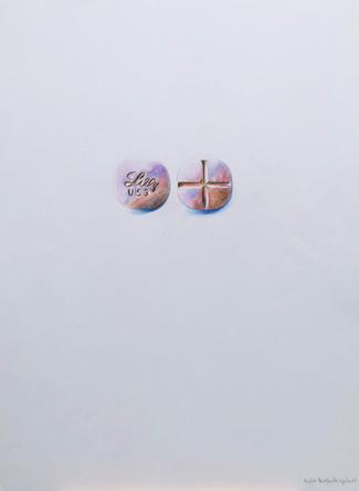 Antidepresseurs 3, dessin sur papier Canson, crayons aquarelle sur papier, 65/50 cm, 2015