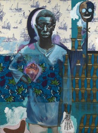 Ivoirien bleu, 2003, technique mixte, 132/97cm