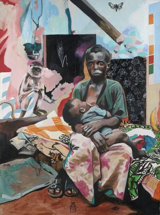 Madone, 2003, huile sur toile, 132/97cm