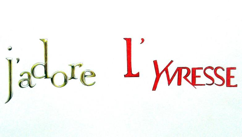J'adore l'Yvresse, dessin sur papier Canson, crayons de couleurs,50/65 cm, 2013