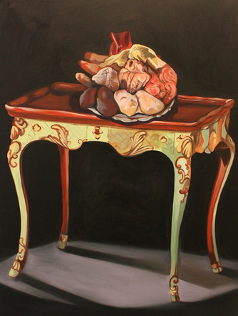 Obscene, 2014, huile sur toile, 132/97 cm
