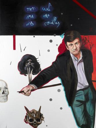Collectionneur 3, Antoine de Galbert, 2007, Huile sur toile, 132/97cm