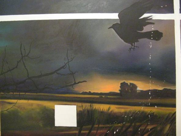 Paysage 1, 2008, Huile sur toile, 58/73 cm