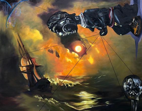 Voyage 1, 2020, huile sur toile, 80/100cm