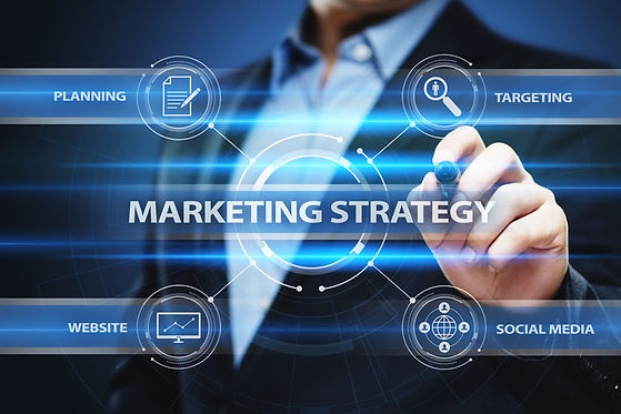 Marketing strategy business advertising plan concept