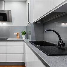 A clean modern kitchen