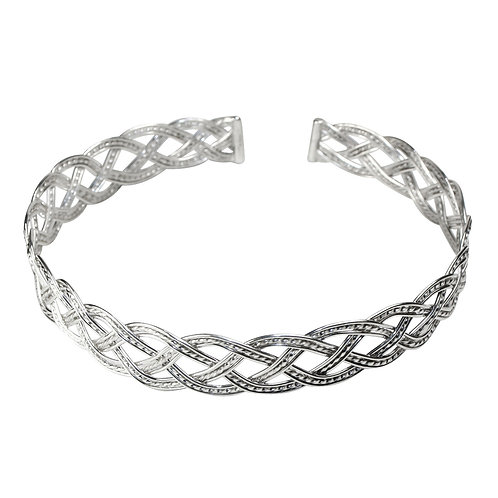 925 Sterling Silver Woven Four Strand Choker