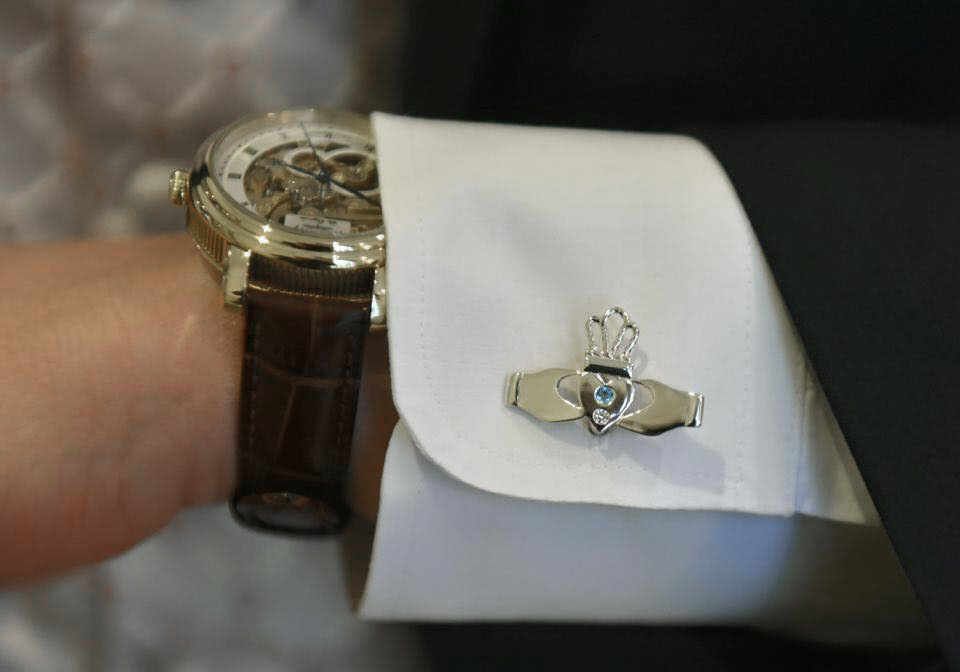 Claddagh cufflinks photo from Jane