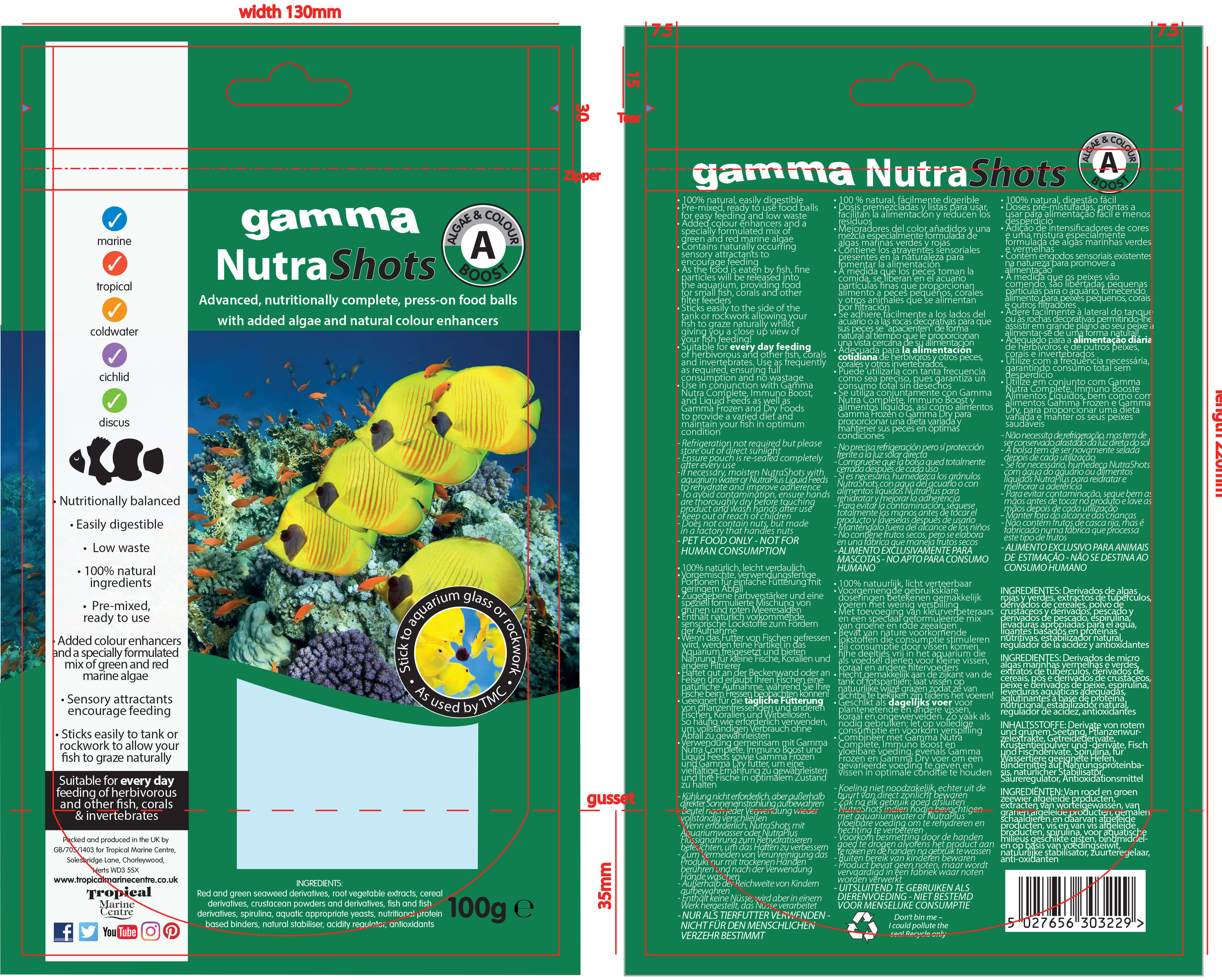 Gamma Foods packaging design