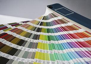 Pantone colour book fanned out