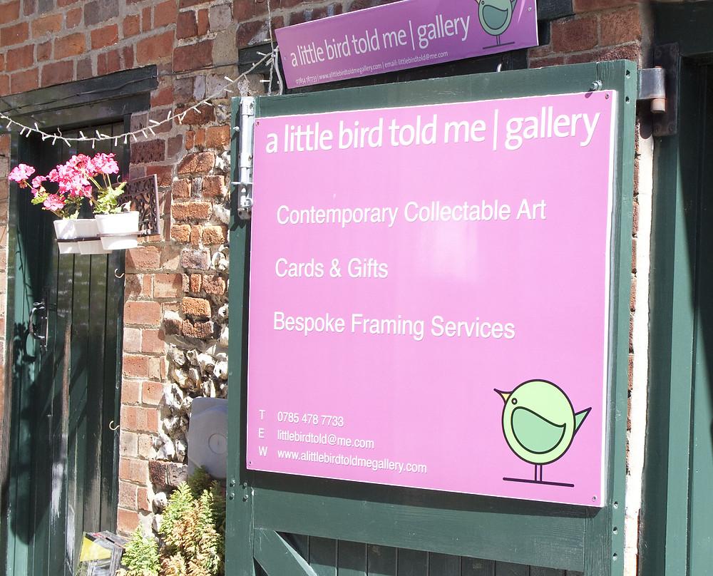 A Little Bird Told Me Gallery sign.jpg