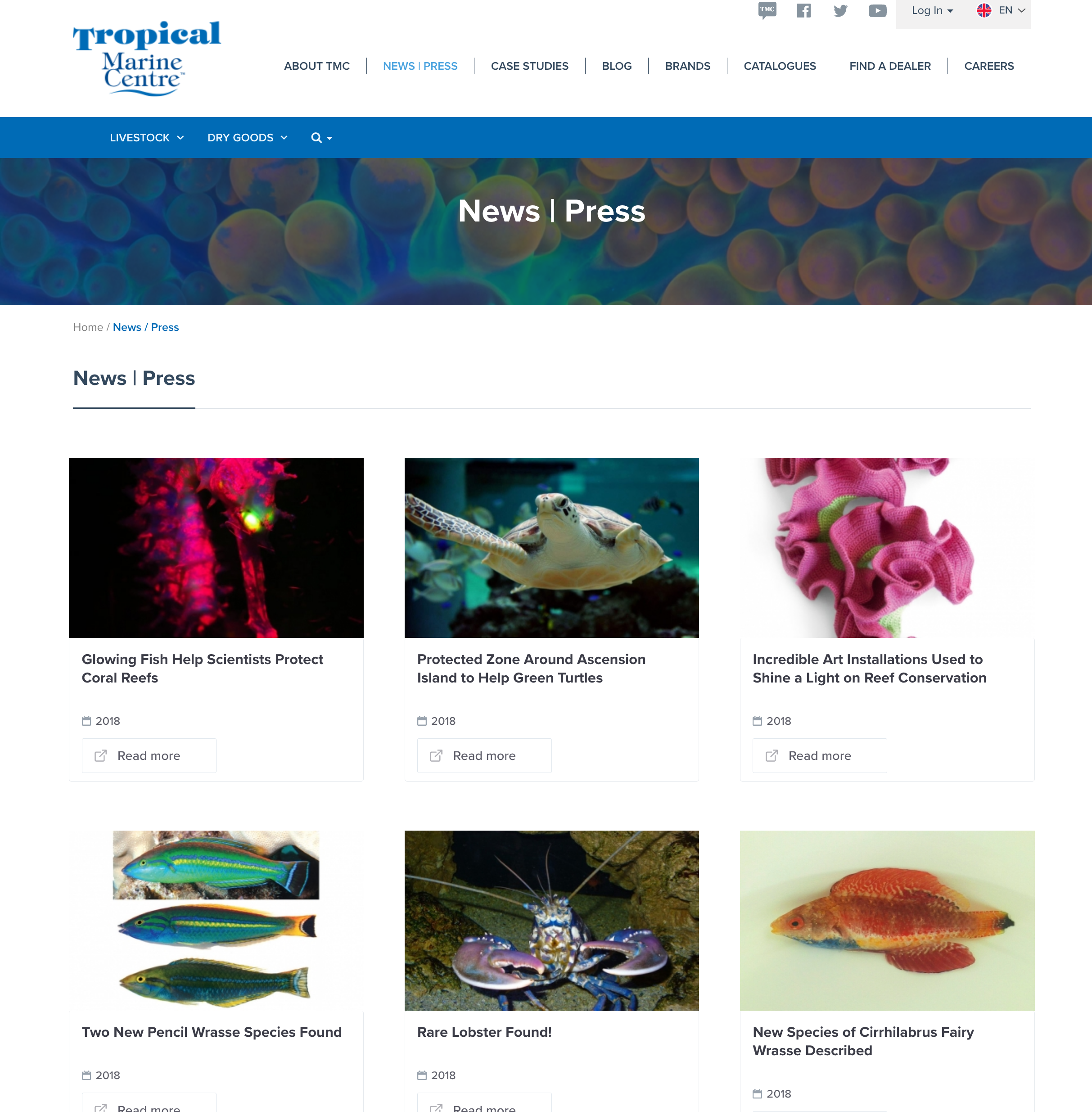 Tropical Marine Centre News Page