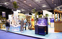 Large exhibition stand for aquatic company