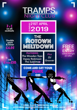 Nightclub promo poster