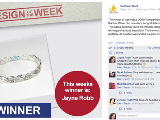 Woven Art Jewellery Wins Cooksongold's Design of the Week!