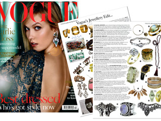 Strike a Pose!  Woven Art Jewellery featured in Vogue