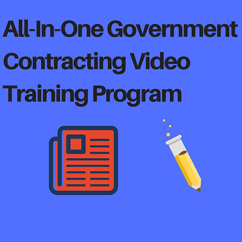 All-In-One Government Contracting Video Training Program